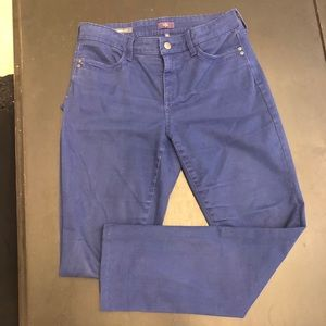 NYDJ brushed cotton royal blue jeans